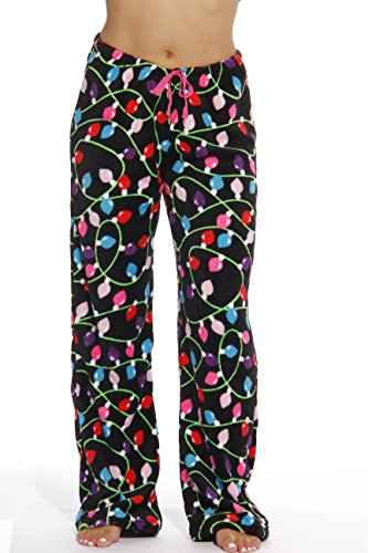 6339-10122-XL Just Love Women's Plush Pajama Pants - Petite to Plus Size Pajamas,Black - Light Up,X-Large