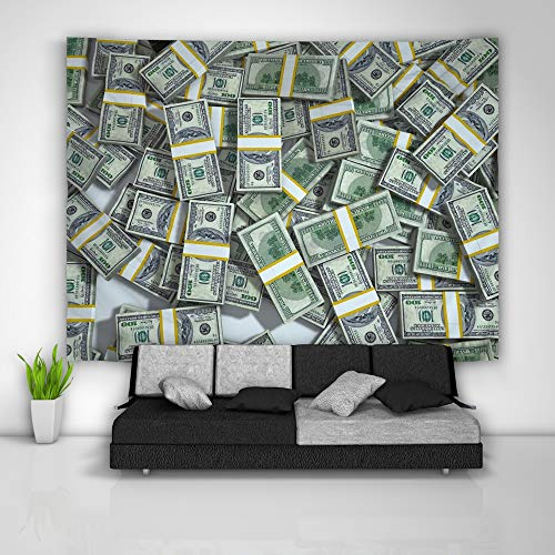 JackGo7 Money Franklin Tapestry Art Wall Hanging Sofa Table Bed Cover Mural Beach Blanket Home Dorm Room Decor Gift