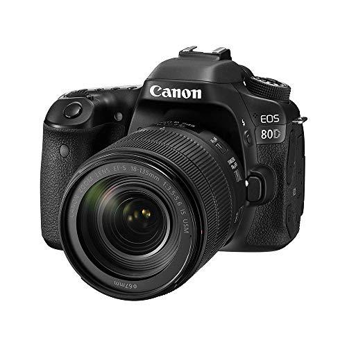 Canon Digital SLR Camera Body [EOS 80D] and EF-S 18-135mm f/3.5-5.6 Image Stabilization USM Lens with 24.2 Megapixel (APS-C) CMOS Sensor and Dual Pixel CMOS AF (Black)
