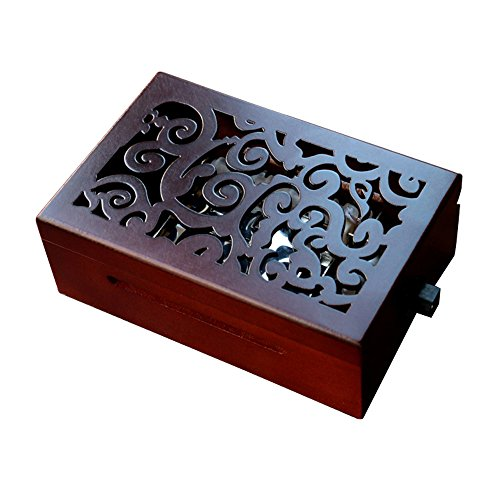Youtang Vintage Carved Wood 30 Note Electric Mechanism Musical Box Music Box Gift