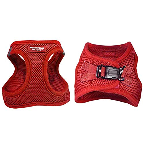 Downtown Pet Supply No Pull, Step in Adjustable Dog Harness with Padded Vest, Easy to Put on Small, Medium and Large Dogs (Red, M)