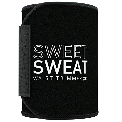 Sweet Sweat Waist Trimmer 'Xtra-Coverage' for Men & Women (Large)   Premium Waist Trainer Sauna Suit with More Torso Coverage for a Better Sweat!