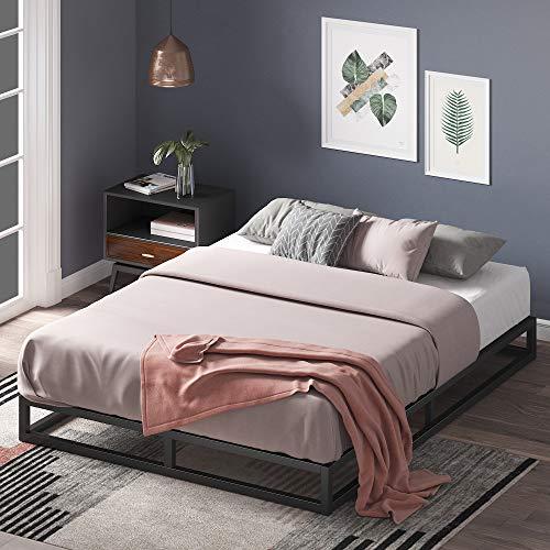 Zinus Joseph 6 Inch Metal Platforma Bed Frame / Mattress Foundation / Wood Slat Support / No Box Spring Needed / Sturdy Steel Structure, Queen