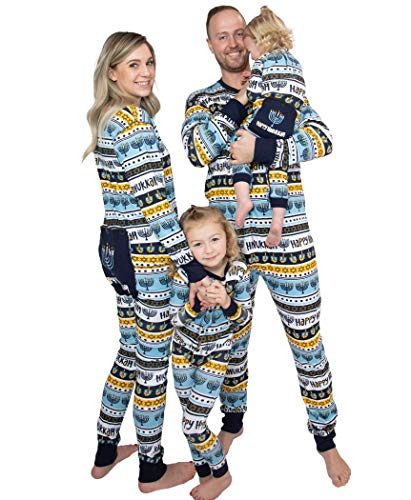 Lazy One Flapjacks, Matching Pajamas for The Dog, Baby & Kids, Teens, and Adults (Hannukkah, 12 Months)