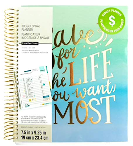 Creative Year Medium Save for The Life Budget Spiral Planner by Recollections UNDATED