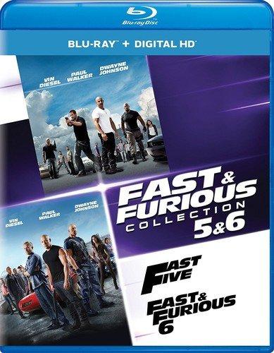 Fast & Furious Collection: 5 & 6 - Blu-ray + Digital HD + The Fate of the Furious Fandango Cash