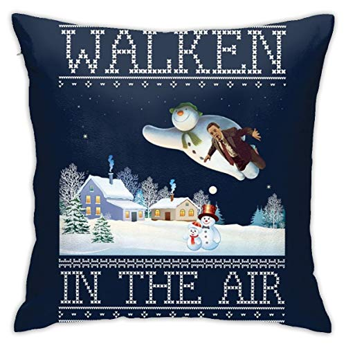 Christopher Walken in The Air Snow Man Christmas Knit Pillowcase, Double-Sided Printing, Hidden Zip Pillowcase, Beautiful Printed Pattern Pillowcase 18inch18inch