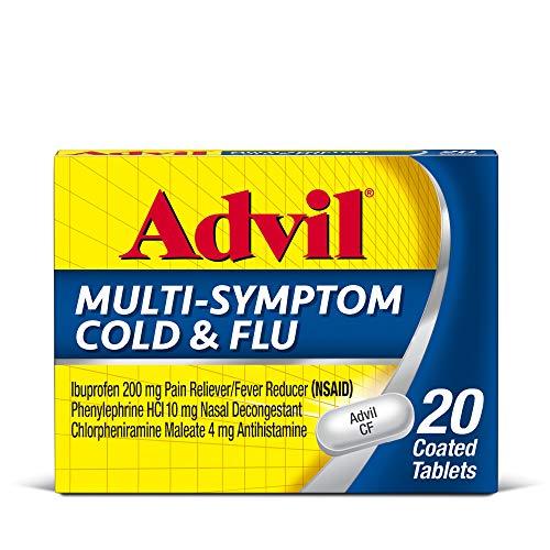 Advil Respiratory Multi-Symptom Cold And Flu, 0mg Ibuprofen, White , 20 Count