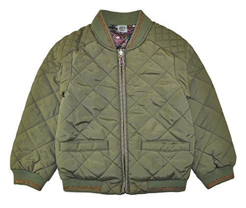 Jessica Simpson Big Girls' Reversible Flight Jacket (4, Olive)