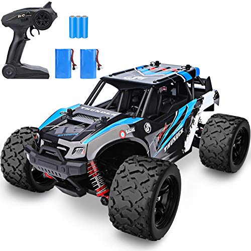YEZI 1:18 Scale Large RC Cars 46km/h+ Speed,2.4Ghz All Terrain Waterproof Remote Control Truck,4x4 Electric Rapidly Off Road Car for,Remote Control Car for Kids Boys and Adults