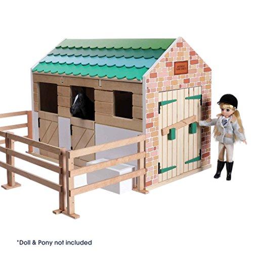 Lottie Dolls Stable Playset | Toy Farm Playset | Toy Barn | Toy Horse Stable Playset | Wooden Barn
