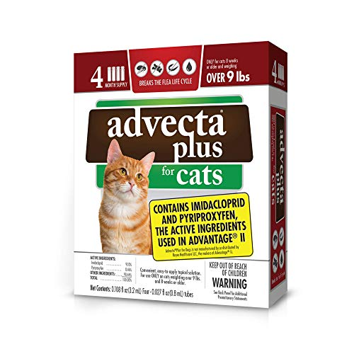 Advecta Plus Flea Squeeze on for Large Cats, 4 Month Supply