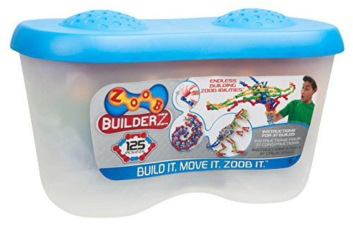 ZOOB 0Z11125 125 Moving Mind-Building Modeling System, Assorted Colors, 125-Pieces