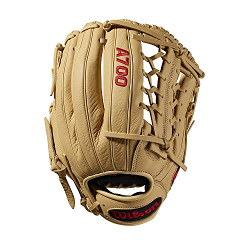 Wilson A700 Baseball Glove Series, Blonde, 12 Inch, Left (Right Hand Throw)