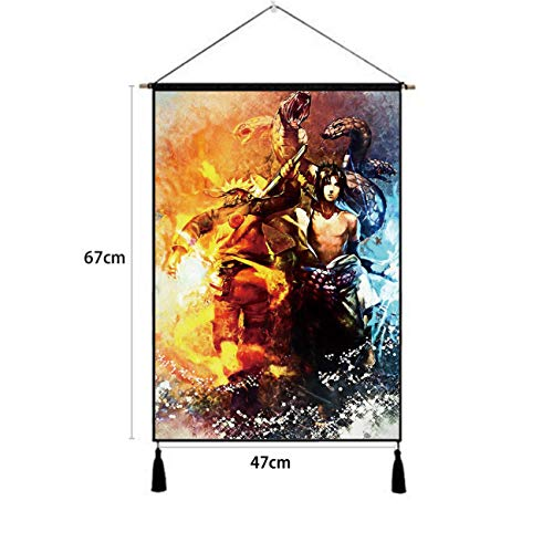 Premium Hanging Poster Canvas Wall Art, Sasuke Naruto Shippuden Snake Tapestry Plush Scroll With Tassels, Decoration For Home Dorm Office -18 X 26 In