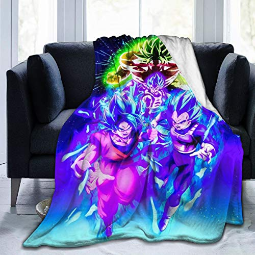 MKJIH Dragon Ball Fleece Throw Blanket.Summer Air Conditioner Super Soft Plush Blanket for Bed Couch Sofa 50 X 40 in