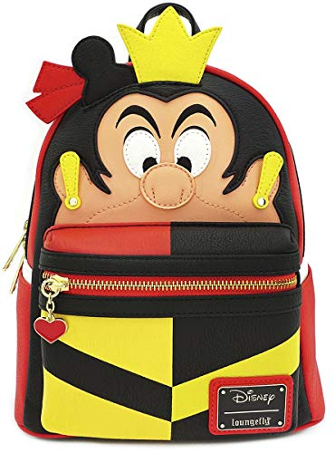 Loungefly Disney Queen of Hearts Faux Leather Mini Backpack Standard