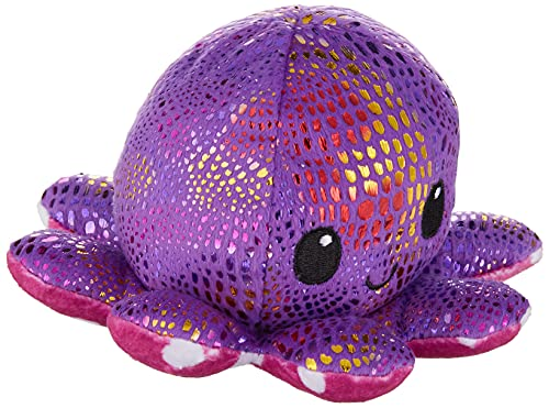 The Original Reversible Octopus Plushie | TeeTurtle's Patented Design | Polka Dot and Shimmer | Show your mood without saying a word!