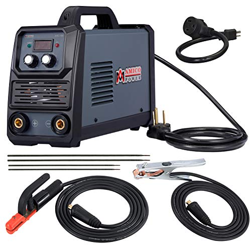 Amico ARC-180, 180 Amp Stick Arc with Lift-TIG Welder, 100-250V Wide Voltage & 80% Duty Cycle, Compatible with all Electrodes