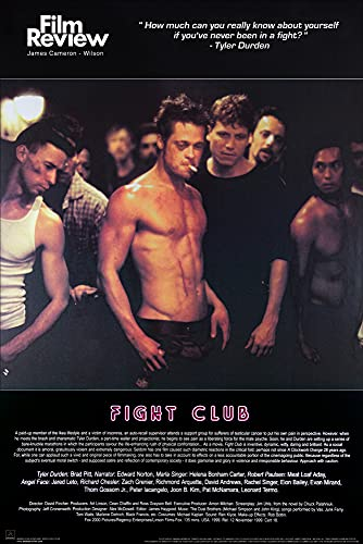 1art1 Fight Club Poster - Brad Pitt, Film Review Collection (Fight Scene) (36 x 24 inches)