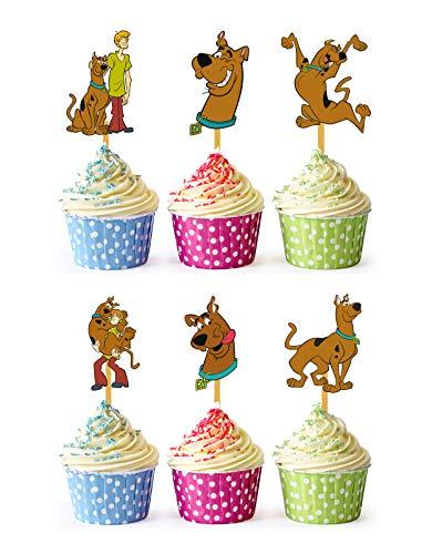 24x Cupcake Topper Picks (Scooby Doo)