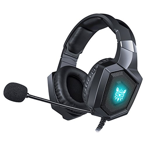 EasySMX Gaming Headset Xbox One Headset PS4 Headset with RGB LED Light for PS4, PC, PS3, Xbox One
