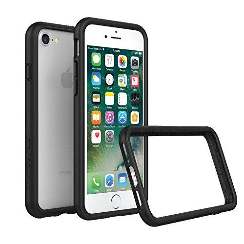 RhinoShield Ultra Protective Bumper Case [iPhone SE2 / SE (2020) / 8/7] | CrashGuard - Military Grade Drop Protection Against Full Impact, Slim, Scratch Resistant - Black