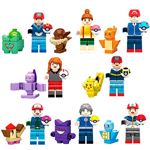 New Poke Set with Pika - Mini Action Figures Monster Toys Set - Gift for Boys and Girls