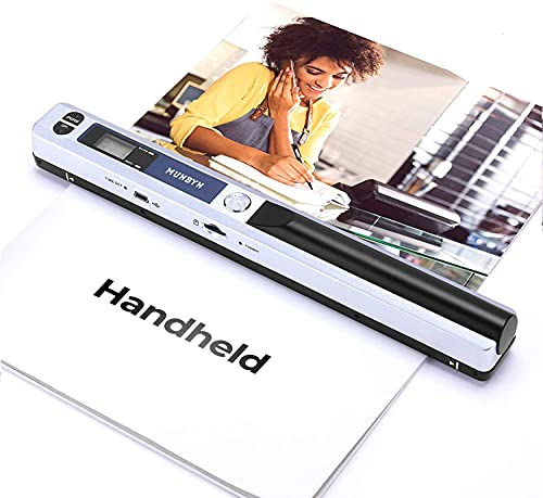 Magic Wand Portable Handheld Scanners for Documents, Photo, Old Pictures, Receipts, 900DPI, Scan A4 Color Page in 3sec, 16G Memory Card Included, MUNBYN Photo Scanner for Computer, Laptop