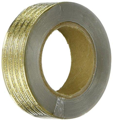Wrapables Colorful Patterns Washi Masking Tape, Reflective Gold Ribbon