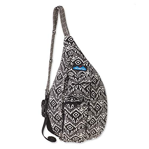 KAVU Mini Rope Bag Cotton Crossbody Sling ​ - Black Batik