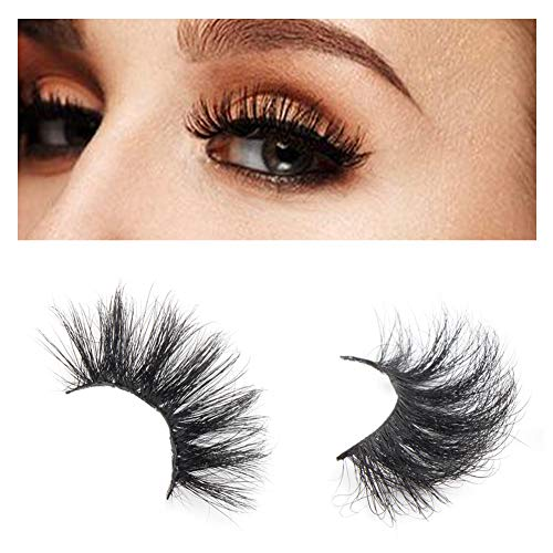 Luxiso 3D Mink Lashes, Fluffy False Handmade Mink Lashes Easy for Women to Makeup, Comfortable Faux Mink Individual Lashes
