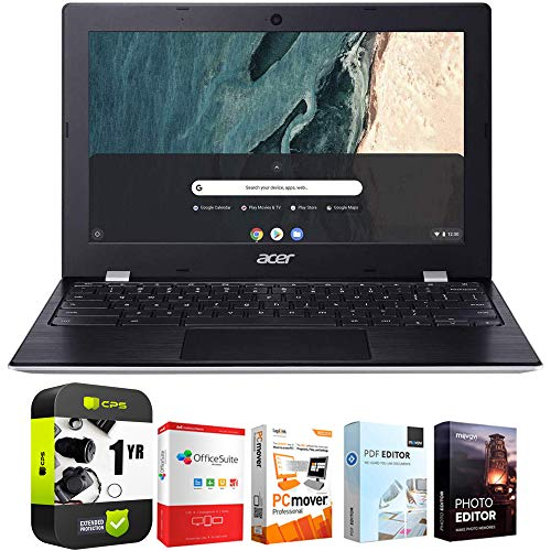 Acer Chromebook 311 CB311-9HT-C4UM 11.6' Intel N4000 4GB/32GB Touch Laptop Bundle w/Elite Suite 18 Software (Office Suite Pro, Photo Editor, PDF Editor, PCmover Pro) + 1 Year Protection Plan