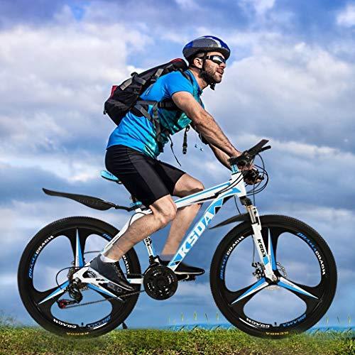 CCTO 26 Inch 21-Speed Bicycle,Junior Aluminum Full Mountain Bike,21 Speed Bicycle Full Suspension MTB Bikes,Outdoor Bikes for Men Women(US Stock)