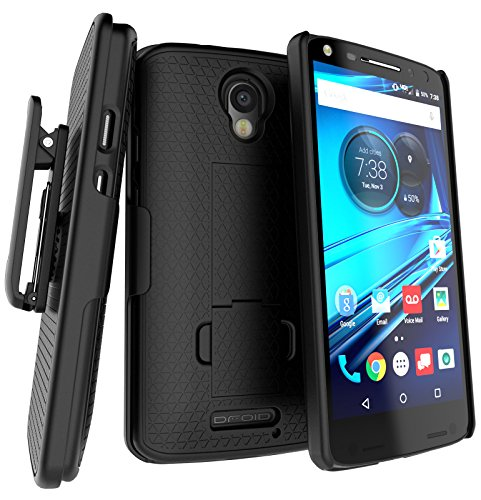 Encased DuraClip for Droid Turbo 2 Belt Clip Holster Case, Slim Cover w/ClikLock Holster for Motorola Droid Turbo 2 (Verizon XT1585)