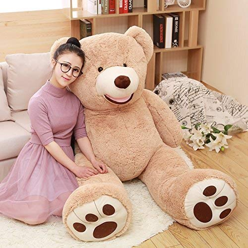 MorisMos Big Plush Giant Teddy Bear Premium Soft Stuffed Animals Light Brown,51 Inches