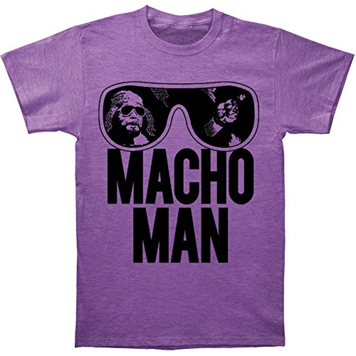 World Wrestling Entertainment Old School Macho Man Adult Purple T-Shirt (Adult X-Large)