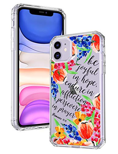 iPhone 11 Case,Women Girly Stunning Flowers Tulips Wildflowers Floral Cute Blossoms Christian Clear TPU Soft Transparent Design Back Protective Case Cover Compatible with iPhone 11