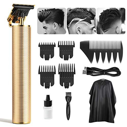 Hair Clippers Electric Pro Li Outliner Professional Cordless Outliner Hair Trimmer T-Blade Trimmer Hair Clippers for Men Zero Gap Baldhead Beard Shaver Barbershop