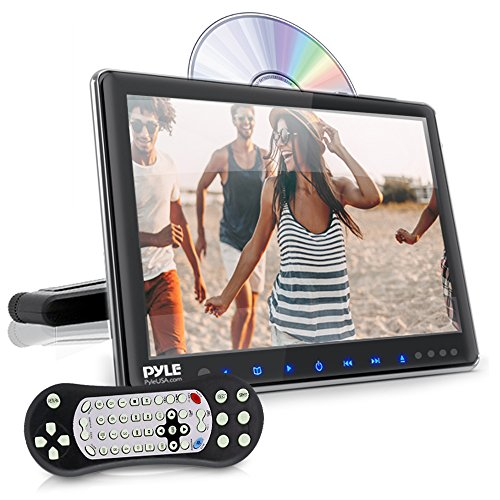 Universal Car Headrest Mount Monitor - 9.4 Inch Vehicle Multimedia CD DVD Player - Smart Audio Video Entertainment System w/HDMI & Hi-Res TV LCD Screen - Includes Mounting Bracket - Pyle