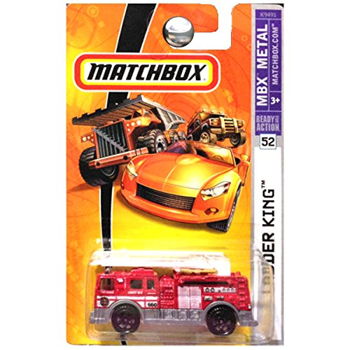 Matchbox 2007 MBX 1:64 Scale Die Cast Metal Car # 52 - Fire Truck Ladder King