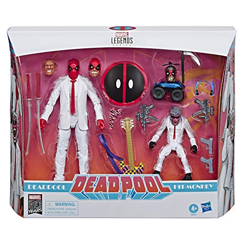 Marvel Comics 80th Anniversary Legends Series 6'-Scale Vintage Comic-Inspired Deadpool & Hit-Monkey Collectible Action Figure 2 Pack