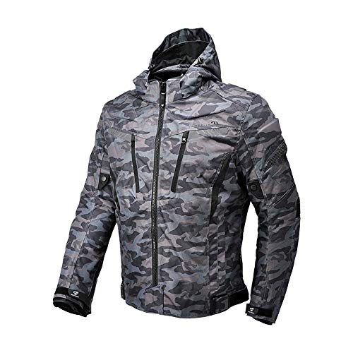 Motorcycle Camo Riding Jacket,All Seasons Waterproof Removable CE Armored Anti-impact Thermal Motorbike Jacket for Men (2XL)