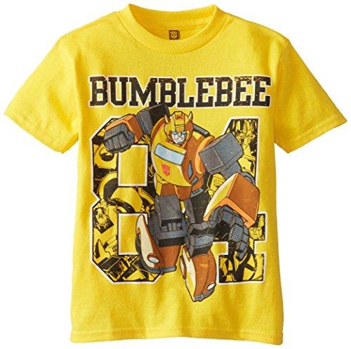 Transformers Little Boys' Short Sleeve T-Shirt Shirt, Yellow, 5/6