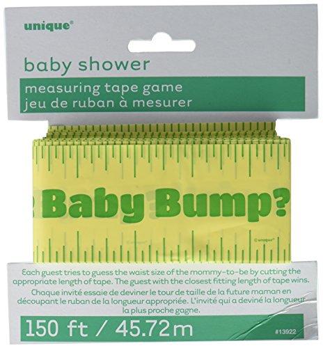 Unique 150ft Baby Shower Bump Measuring Tape Game, Multicolor, 5.75' x 6.25' -