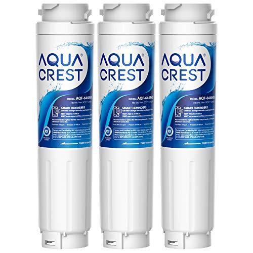 AQUACREST 9000194412 Refrigerator Water Filter Replacement for Bosch Ultra Clarity 9000194412, 644845, 9000077104, B26FT70SNS, B22CS30SNS, B22CS80SNS, B22CS50SNS, Haier 0060820860, 0060218744 (3-Pack)