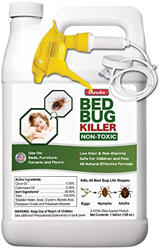 Duuda Bed Bug Organic Killer Spray, Fast and Sure Kill with Extened Residual Protection, Natural & Non-Toxic, Child & Pet Friendly-60oz