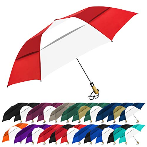 STROMBERGBRAND UMBRELLAS The Vented Little Giant Folding Golf Umbrella Red/white, One Size