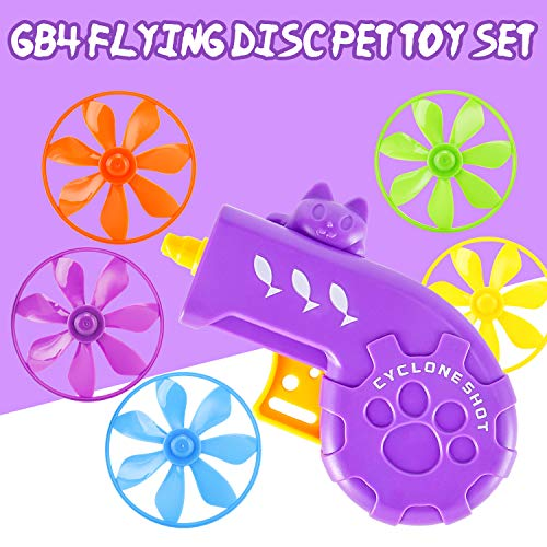 GB4 Cat Fetch Toy - Cat Tracks Cat Toy - Fun Levels of Interactive Play -Cat Toys with 5 Colors Flying Propellers Satisfies Kitty's Hunting, Chasing & Exercising Needs (Purple)