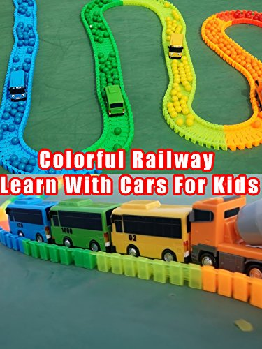 Colorful Railway Learn With Cars For Kids